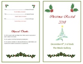 Holly-Themed recital/concert program template