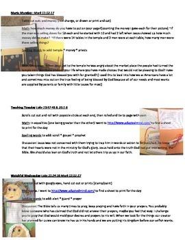 Holy Week Project (Palm Sun. through Good Fri)