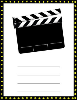 """Hollywood 1"""" binder cover and spine inserts"""