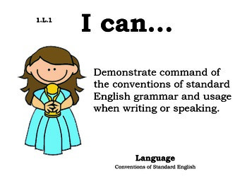 Hollywood 1st grade English Common core standards posters