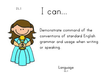 Hollywood 2nd grade English Common core standards posters