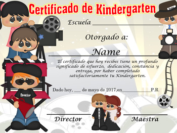 Hollywood Achievement Award Complete editable!!! English & Spanish version