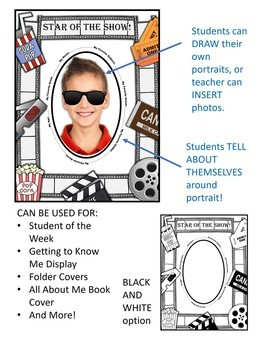 HOLLYWOOD All About Me/ Star of the Show/ Student of the Week Display