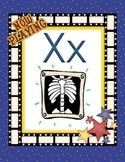 Hollywood Alphabet Optional letter card for X (xray)