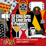 Hollywood Award Red Carpet Clip Art  - Movie night party - Colaboration Pack