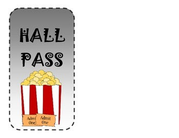 Hollywood Bathroom and Hall Passes