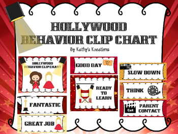 Hollywood Behavior Clip Chart - Marquee Lights
