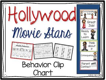 Hollywood Behavior Clip Chart Movie Stars