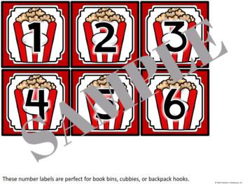 Hollywood Bin Number Labels