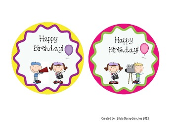 Hollywood Birthday Badges and Certificates