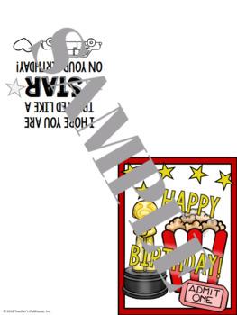 Hollywood Birthday Card