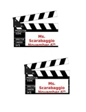 Hollywood Birthday Tags **Editable