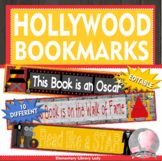 Hollywood Bookmarks, Shelf Markers or Desk Name Plates - EDITABLE