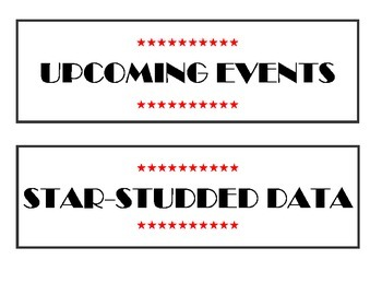 Hollywood Bulletin Board Theme Labels