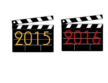 Hollywood Calendar 2015 and 2016