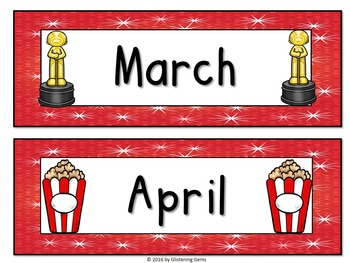 Hollywood Calendar Toppers & Dates