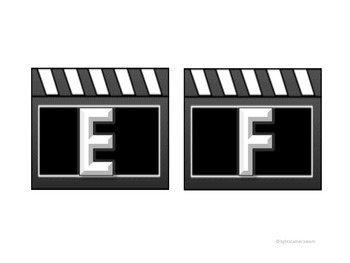 Hollywood Clapboard Letters