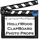Hollywood Clapboard Photo Props (Editable)