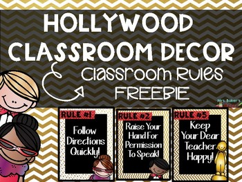 Hollywood Class Rules FREEBIE
