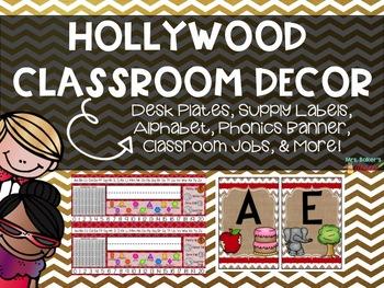 Hollywood Classroom Decor