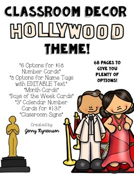 Hollywood Classroom Decor Pack!