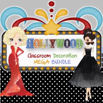 Hollywood Classroom Decorations MEGA BUNDLE -Editable1