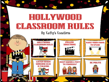 Hollywood Classroom Rules -Marquee Lights