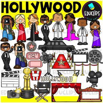 Hollywood Clip Art Bundle {Educlips Clipart}