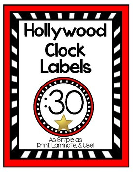 Hollywood Clock Labels
