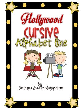 Hollywood Cursive ABC line