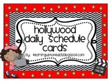 Hollywood Daily Schedule Cards (Editable)