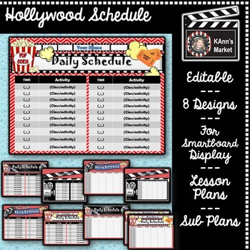 hollywood daily schedule template cute fun update throughout the