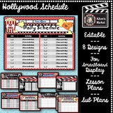 Hollywood Daily Schedule Template!  Cute & Fun!  Update Th