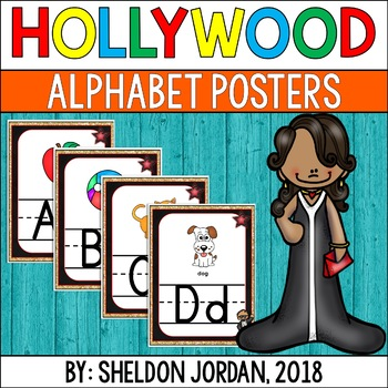 Hollywood Decor Alphabet Posters