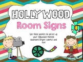 Hollywood Decor Room Signs