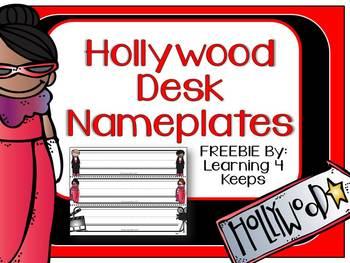 Hollywood Desk Nameplates (6 Options)