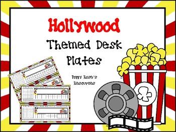 Hollywood Desk Plates
