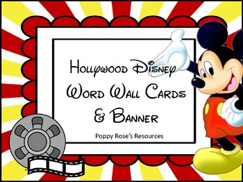 Hollywood Disney Word Wall Alphabet & Banner