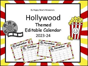 Hollywood Editable Calendar