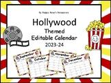 Hollywood Editable Calendar 2018-2019