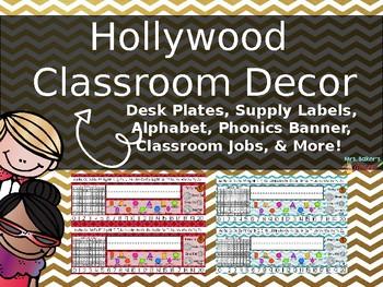 Hollywood Editable Desk Plates
