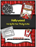 Hollywood End of the Year Party Invites
