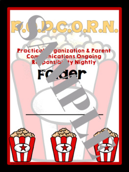 Hollywood Folder & Binder Covers (POPCORN)