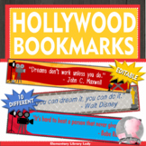 Hollywood Growth Mindset Bookmarks, Shelf Markers or Desk Name Plates - EDITABLE