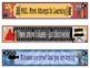 Hollywood Growth Mindset Bookmarks, Shelf Markers or Desk Name Plates - EDITABLE