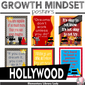 "Hollywood Growth Mindset Posters - 8.5""x11"", 18""x24"" - Ready for Printing"