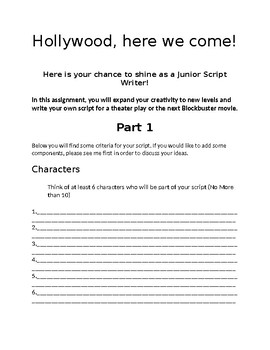 Hollywood Here We Come! (Writing our 1st Script)