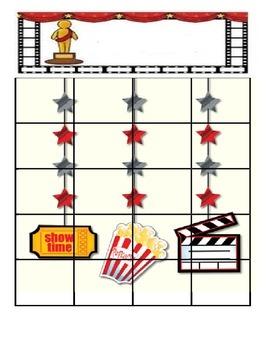Hollywood Homework Chart