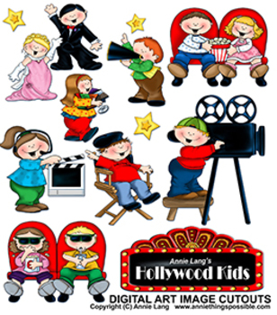 Hollywood Kids Character Clipart