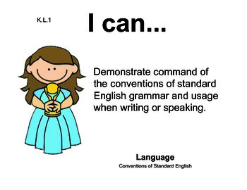 Hollywood Kindergarten English Common core standards posters